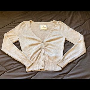 Heritage1981 silver cropped cardigan size S